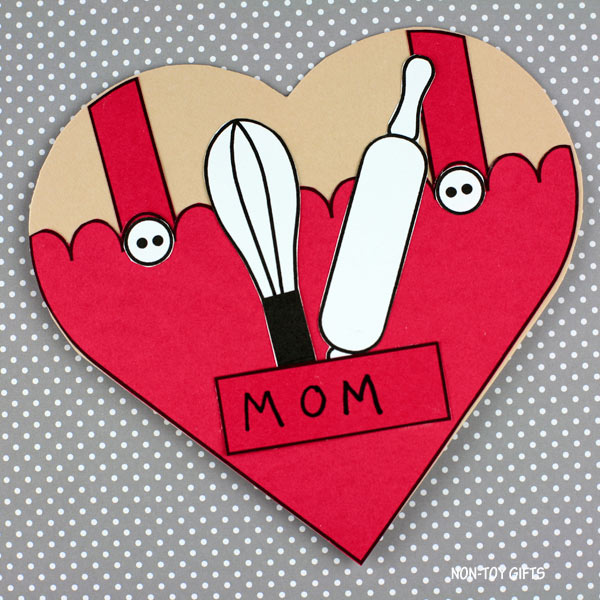 Mothers day heart card