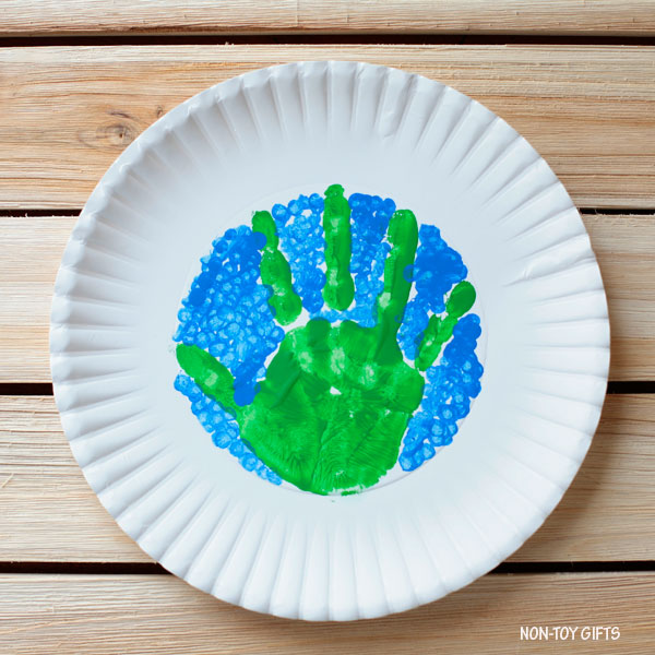 Earth Day handprint craft for toddlers