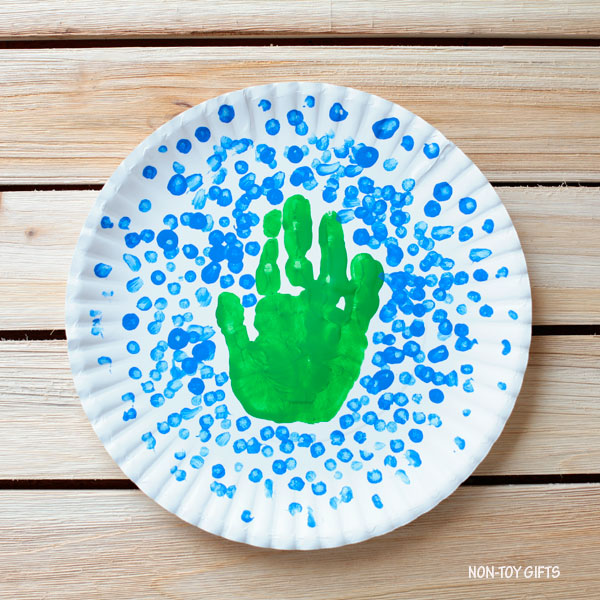 Handprint Earth Day craft