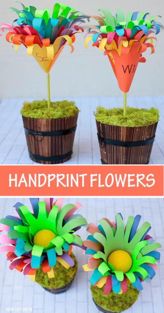 Handprint flowers