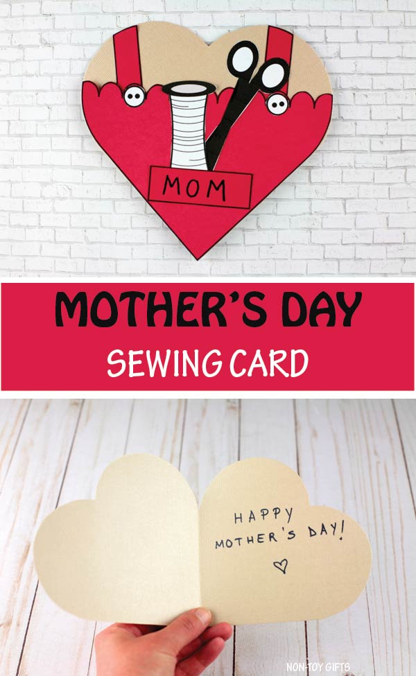 Mother's Day sewing card kids can make