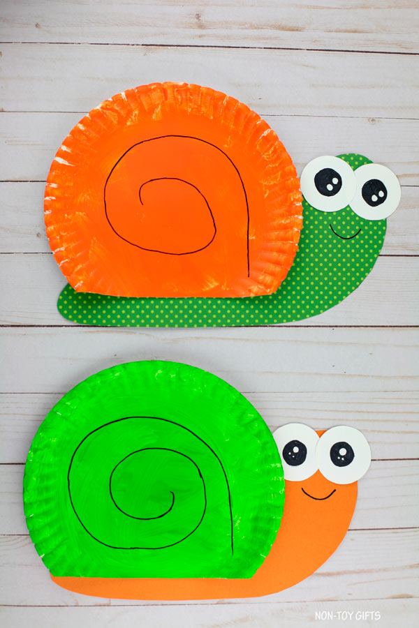 paper plate snail craft for preschool