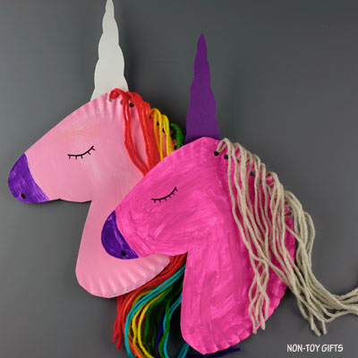 Paper plate unicorn