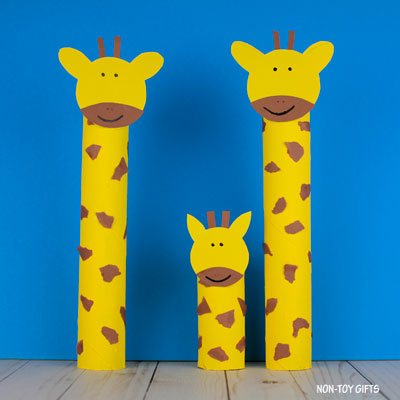 Paper roll giraffe craft