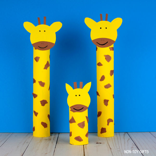 Paper roll giraffe craft for preschoolers