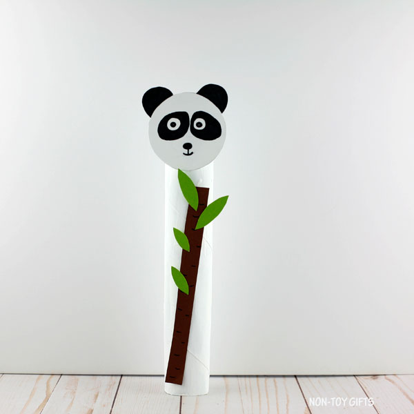 panda with bamboo shoot