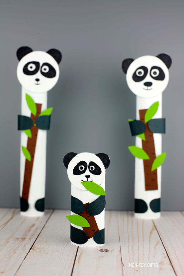 paper roll zoo animal panda craft