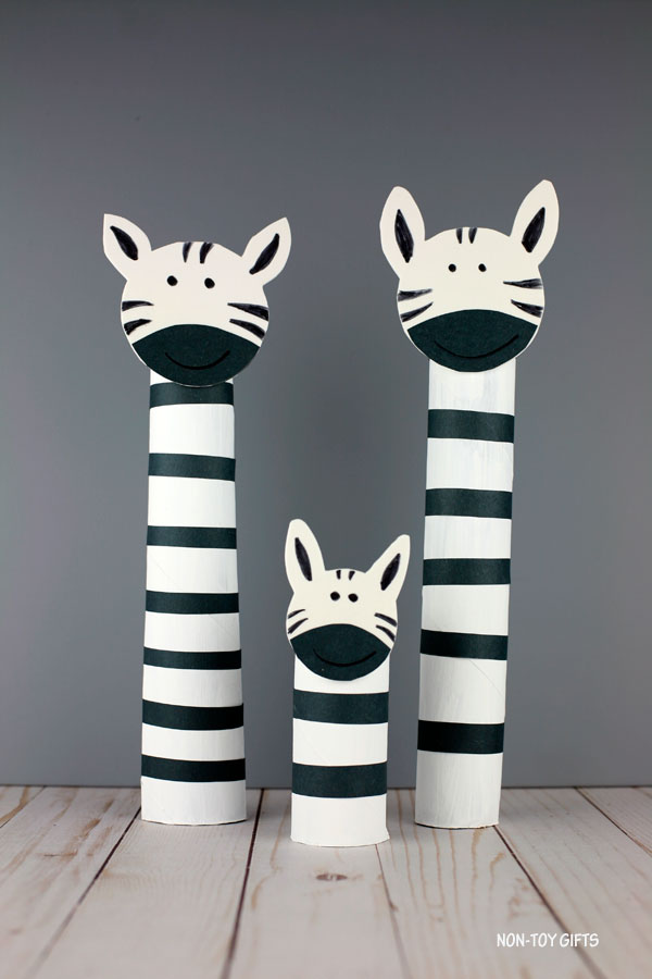paper roll zebra craft for kids
