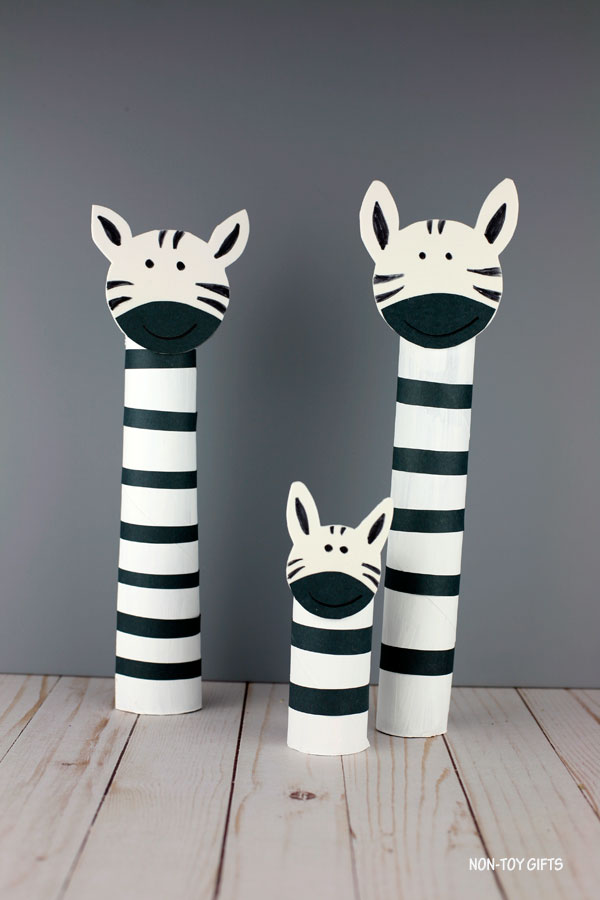 paper roll zebra craft for preschoolers