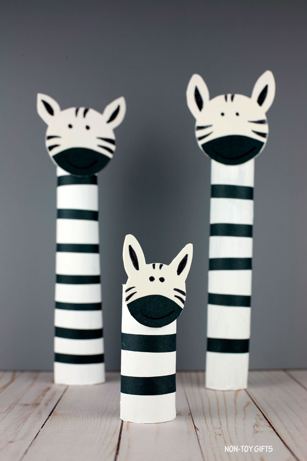easy paper roll zebra craft