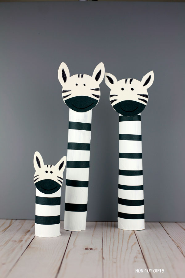 recycled paper roll zebra craft