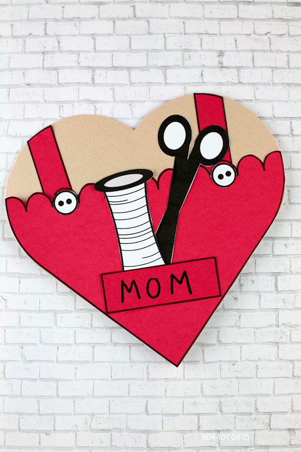 Mother's Day sewing card for mom and grandma