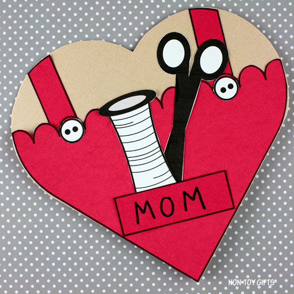 Mother's Day sewing card for preschoolers