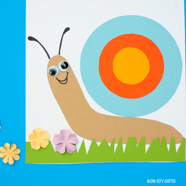 paper snail craft for preschoolers