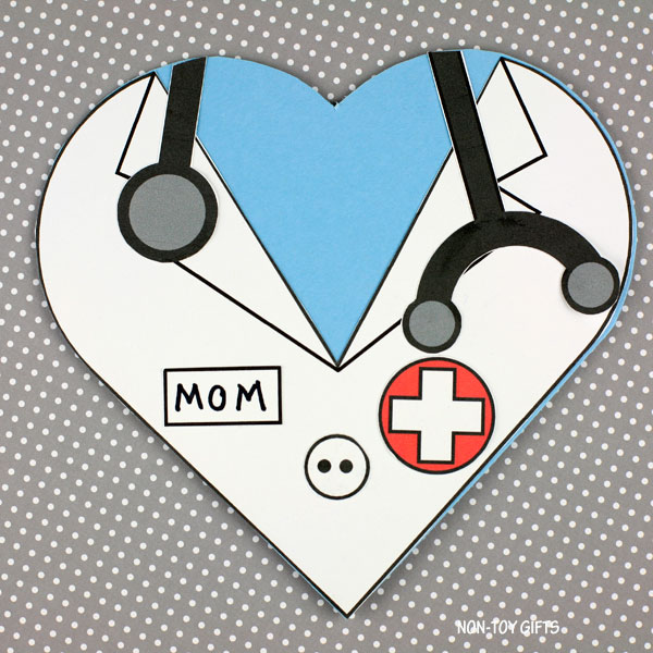 Mother's Day doctor mom card