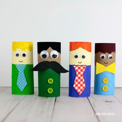 Paper roll Father's Day craft