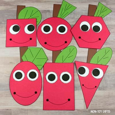 Shape apple mix and match craft