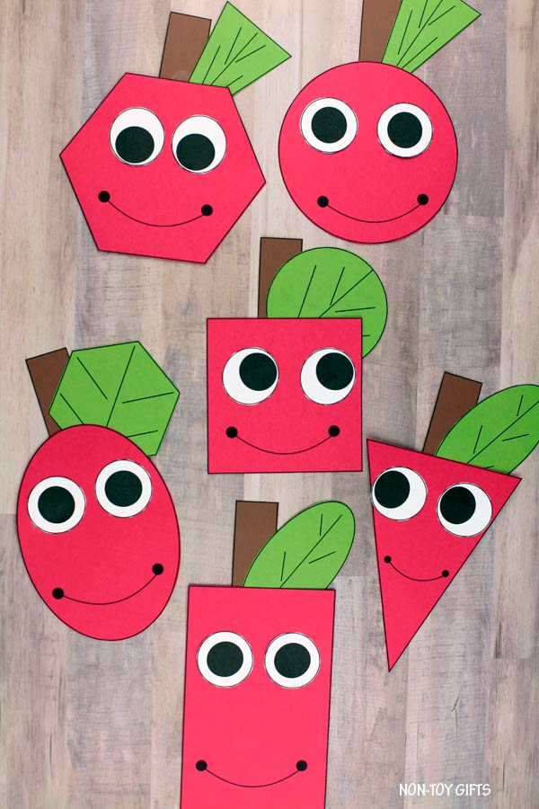 Math shape apple craft