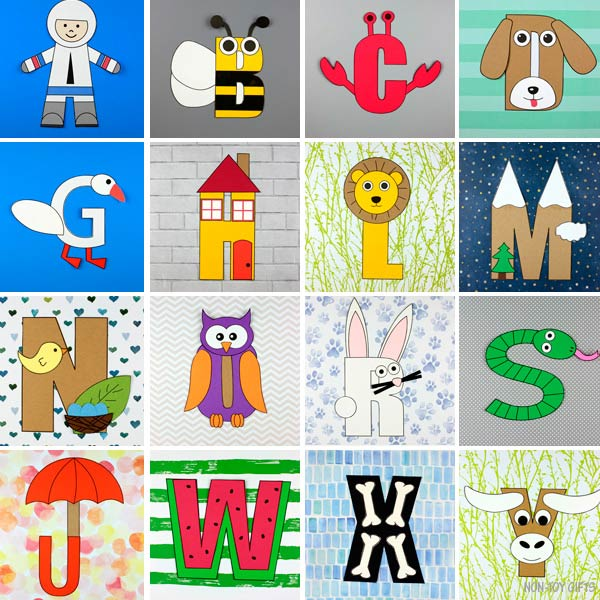 alphabet letter crafts