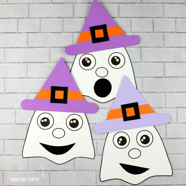 Ghost craft for preschoolers, kindergartners and older kids