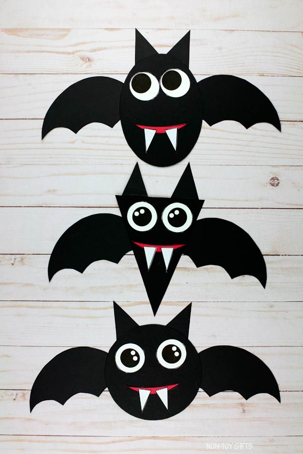 Halloween shape bat craft