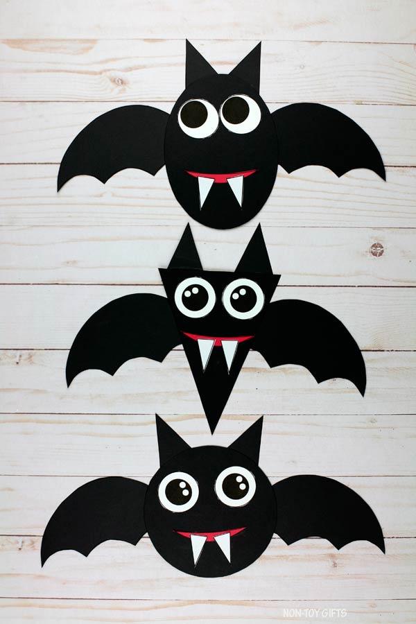 Halloween shape bat craft