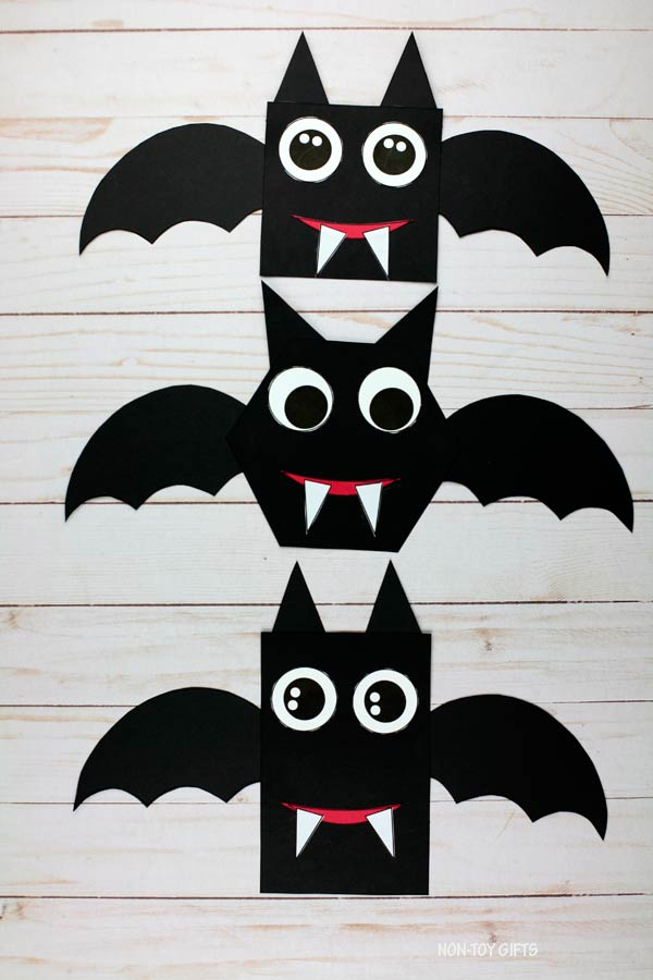 Shape Halloween bat craft