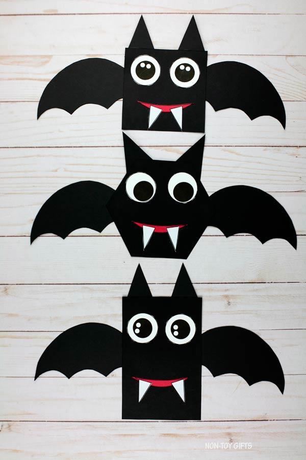 Shape Halloween bat craft