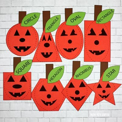 Pumpkin shape matching activity