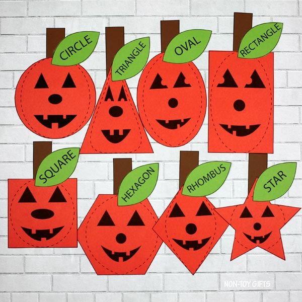 Halloween shape matching game