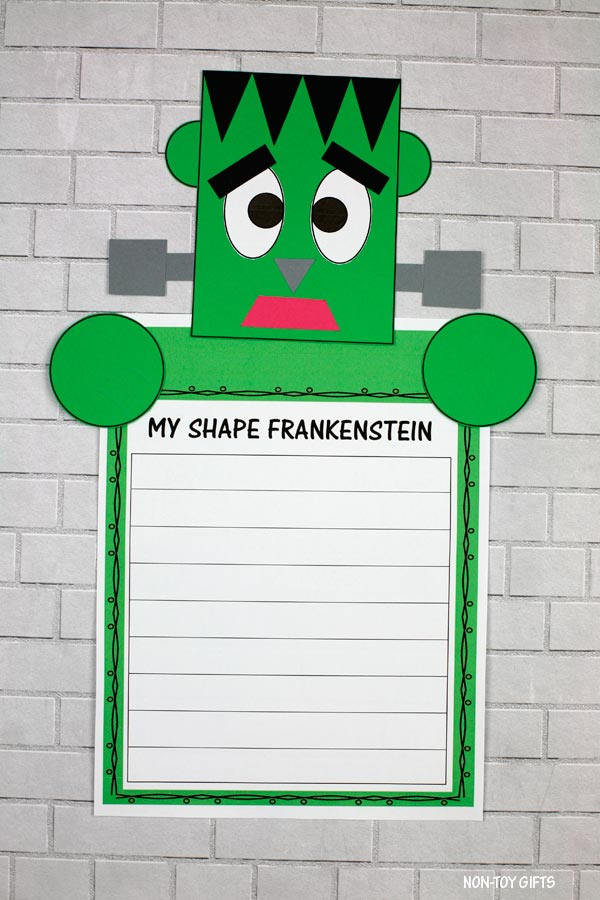 Shape Frankenstein craft and writing activity