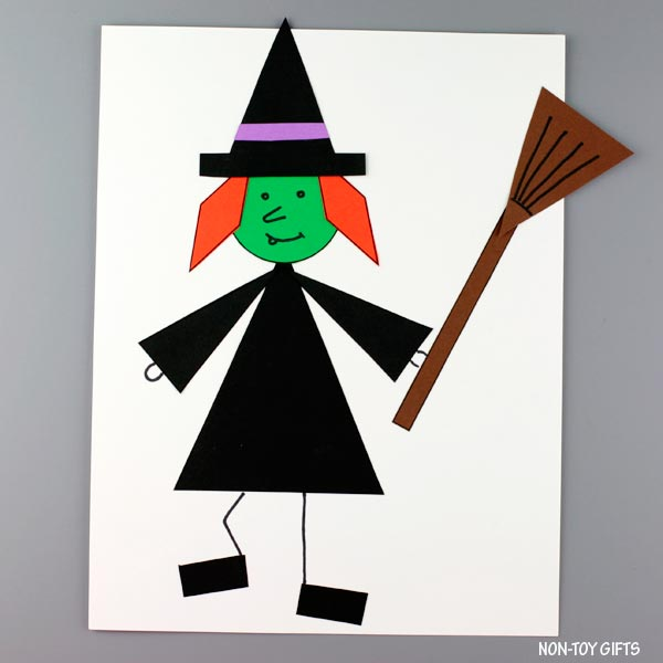 Shape witch craft for kids