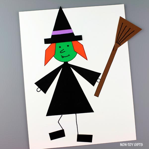 Witch craft made with shapes