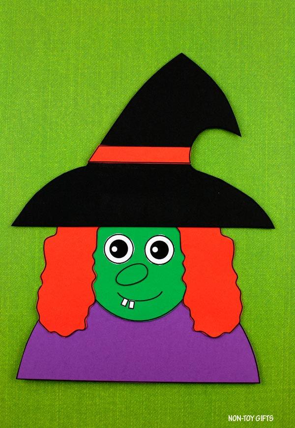 Witch craft for preschoolers and kindergartners