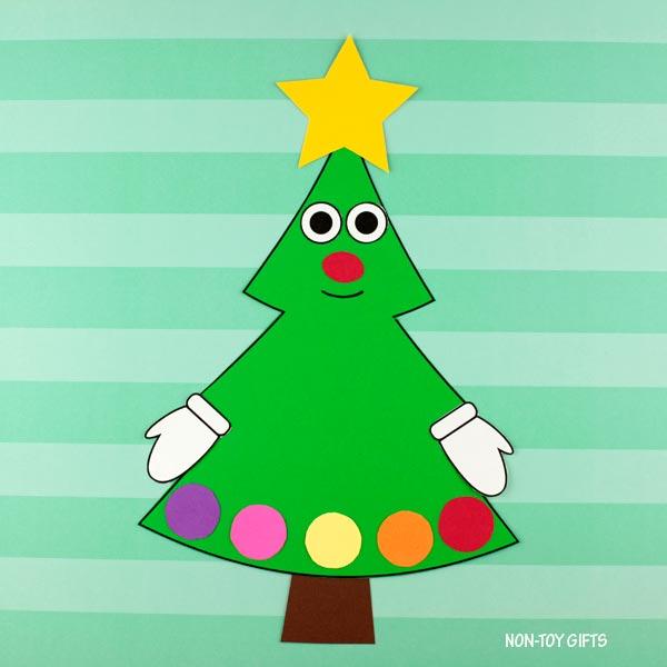 Christmas tree craft for preschool