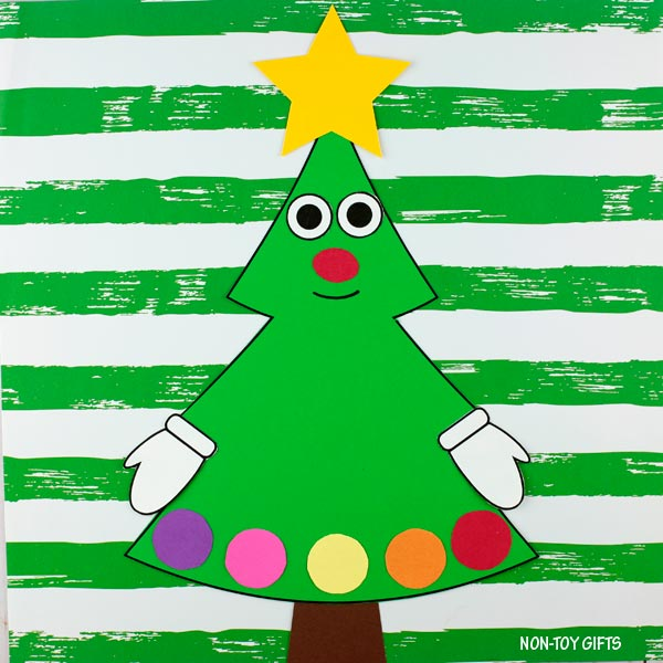 Easy paper Christmas tree craft
