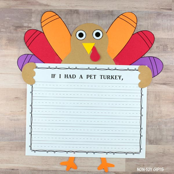 If I had a pet turkey craft and writing activity