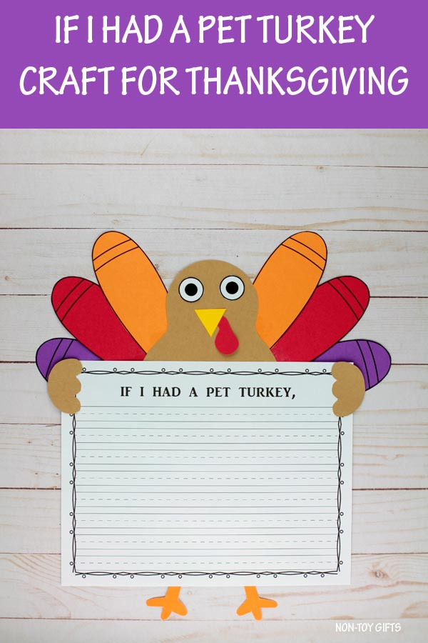If I had a pet turkey activity for kids