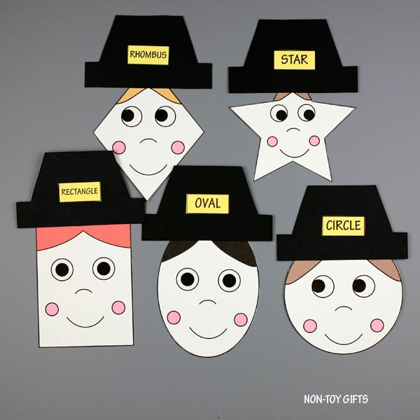 Shape matching activity for Thanksgiving