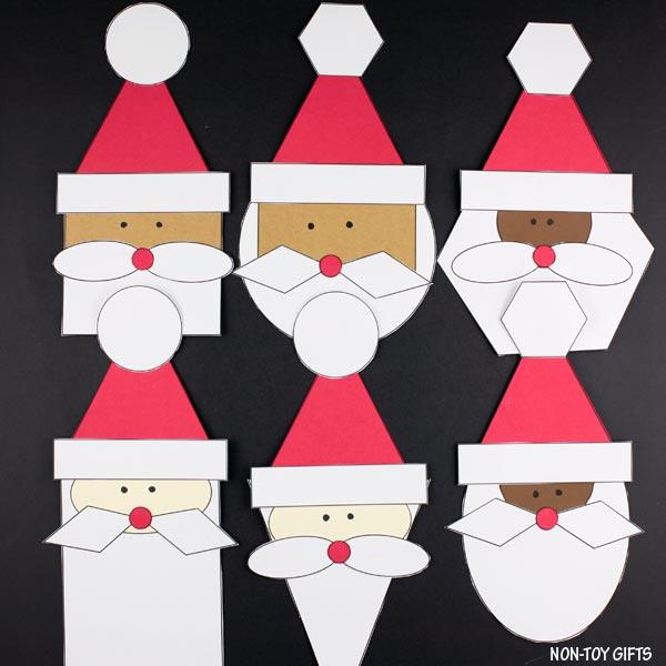 Easy shape Santa craft for kids