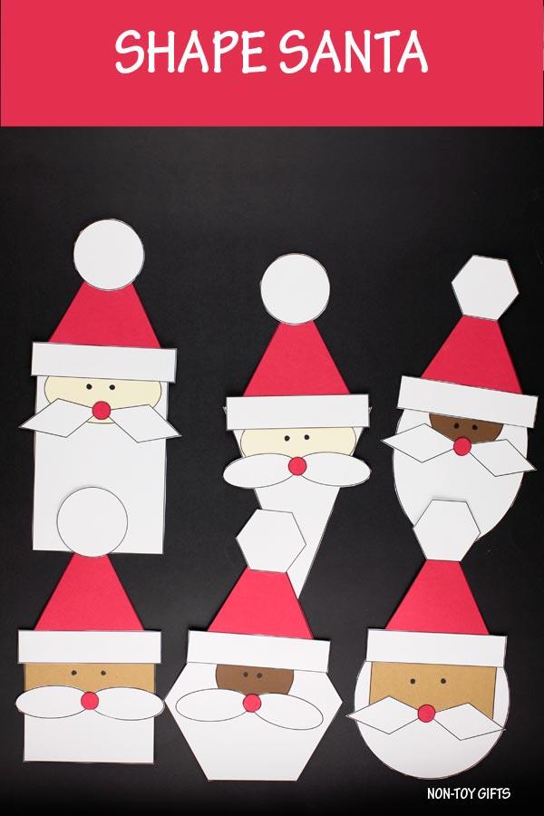Santa shape craft for kids