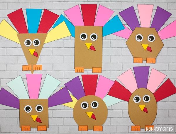 Thanksgiving shape turkey craft