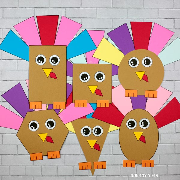 Turkey shape craft for kids