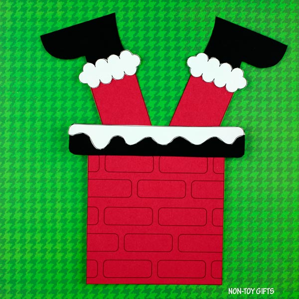 Santa is stuck in the chimney craft for kids