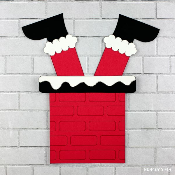 Santa is stuck in the chimney craft