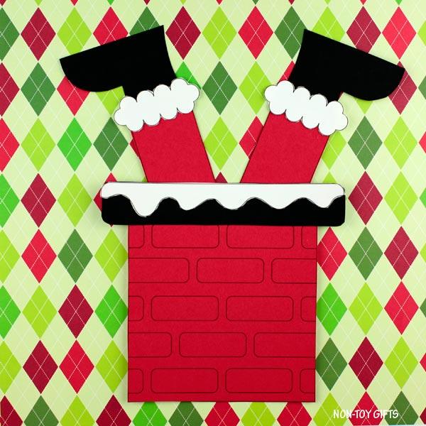 Santa stuck in chimney craft for preschoolers and kindergartners