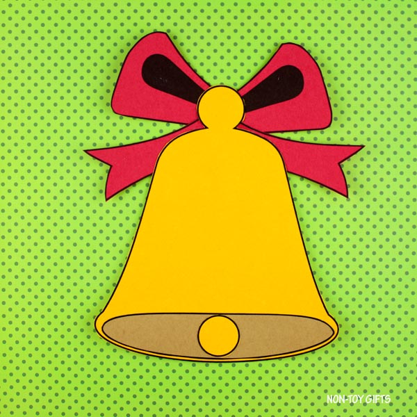 Christmas bell paper craft for kids