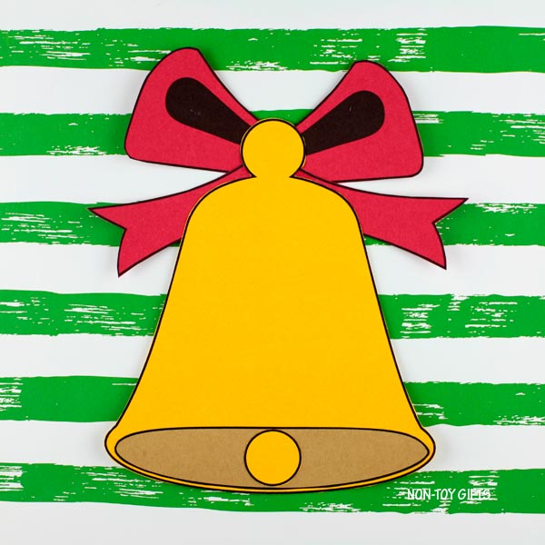 Easy paper Christmas bell craft for kids