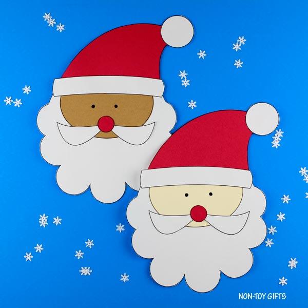 Easy paper Santa craft for kids