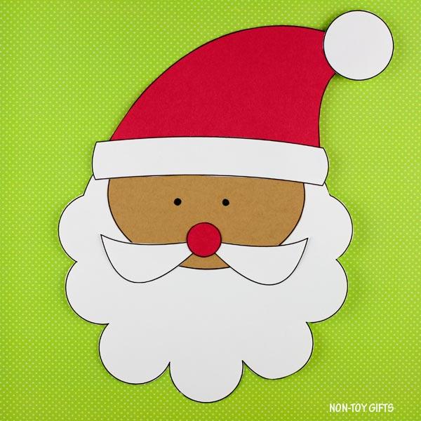 Santa craft for kindergartners